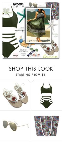"""""""swimwear from rosegal"""" by zeki-zex ❤ liked on Polyvore"""