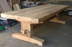 How To Find Quality Living Room Furniture Dinning Room Tables, Trestle Dining Tables, Wooden Tables, Farm Tables, Diy Furniture Projects, Wood Furniture, Furniture Design, Build A Farmhouse Table, Woodworking Inspiration