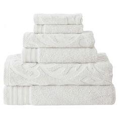 $29 6-Piece Egyptian Cotton Towel Set in White