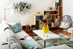 The Right Angles  After seasons of complex quatrefoils and scrolling trellis prints, the latest trend in geometric design takes us back to the basics: Circles, squares, and triangles are inspiring furniture and decor from pillow covers to bookcases, and everything in between. Below, our favorite interpretations of the trend—plus tips on finding the perfect equation for your space.