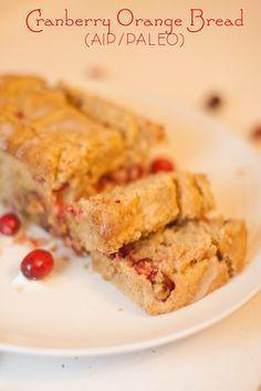 Cranberry Orange Bread (AIP/Paleo)