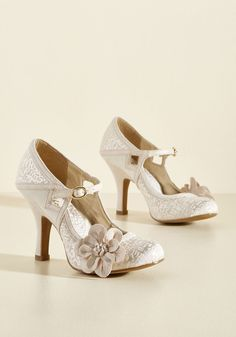 Chimerical Caper Mary Jane Heel in Champagne, @ModCloth