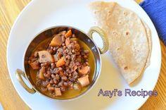 red chori-veggie curry, Red Coe pea curry