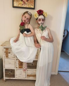 My gorgeous daughters on Halloween showing how clothing can completely transform the way we choose to present ourselves. Halloween Dress, Halloween Costumes, Win Free Gifts, Bridesmaid Dresses, Wedding Dresses, Daughters, Dress Up, Flower Girl Dresses, Presents