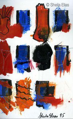 """Sketchbook III-32,"" Sketchbook Series, 2009 Sheila Elias - Contemporary Artist. All rights reserved ® 2014"