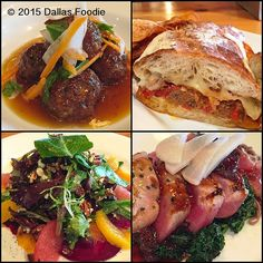 """I got a sneak preview of @HenrysMajestic #lunch menu offered Tuesdays through Fridays. Clockwise starting at the left is the Maple Bourbon meatballs made with #Akaushi Beef The beef is so tender you can slice right into it with a fork Melts in your mouth with the sweet flavor of maple infused Bourbon. Don't just stop there with the Akaushi beef because you can even add these tender bad boys to a sandwich that puts you to sleep. The Rustic meatball grinder at the top right with house…"
