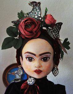 paper mache ooak frida kahlo ! love it by firuzan goker