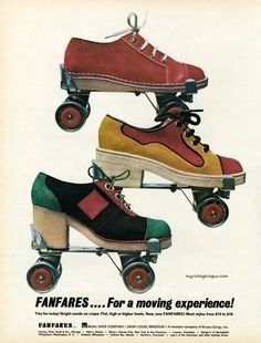 Cool roller skates by Fanfares, 1972.