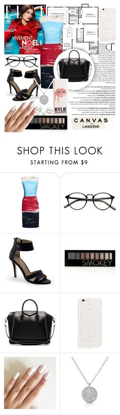 Paint Your Look With Canvas by Lands' End: Contest Entry by hannancat on Polyvore featuring Canvas by Lands' End, Lands' End, Givenchy, Anne Sisteron, Allurez, JFR, Forever 21, Balmain and Paul Frank