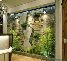 38 Spectacular Indoor Garden Design Ideas To Try Right Now - While it may not be difficult to have a vegetable garden in your own backyard, it's different when it's going to be inside of your house. An indoor ga. Interior Garden, Interior Exterior, Home Interior Design, Interior Architecture, Interior Decorating, Simple Living Room Decor, Outdoor Spaces, Garden Design, Balcony Design