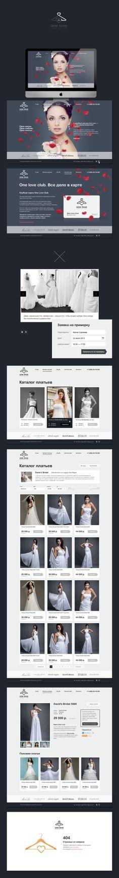 OneLove Wedding studio by Alexander Finogentov, via Behance