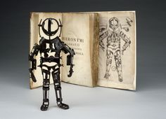 Articulated iron manikin used to teach bone-setting with accompanying book possibly Italian 1570-1700. [3919x2832]