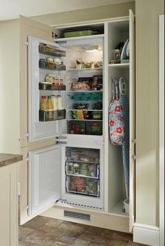 Image result for shaker kitchen with integrated fridge freezer