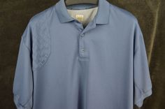 Columbia PHG Vented Omni-Shade Short Sleeve Polo Shirt Blue Men's XL FREE SHIP #Columbia #PoloRugby