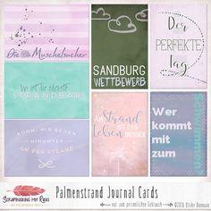 Journaling Karten Palmenstrand Preview
