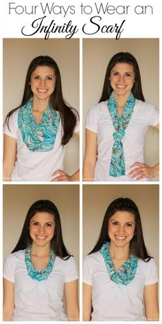 Bored with wearing your infinity scarf the same way every time? Here are four ways to wear an infinity scarf to spice up your wardrobe!