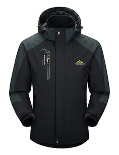 Pin it for later. Find out More snowboarding jackets. MAGCOMSEN Men's Hooded Softshell Outdoor Windproof Jacket Raincoat Mountain Hiking Lightweight Jacket