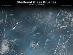 Shattered Glass Photoshop and GIMP Brushes by redheadstock.deviantart.com on @DeviantArt