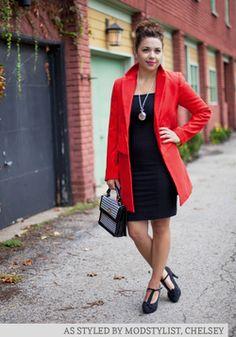 love the longer length Sleek It Out Dress, #ModCloth