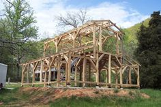 Timber Frame barn in WNC