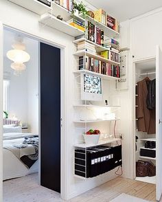 My ideal home is your daily source of interior design, architecture, home ideas and interior inspirations. Shelf Furniture, Home Furniture, Scandinavian Shelves, String Regal, Ceiling Shelves, Wall Shelving, String Shelf, Gothenburg, Ikea Hacks