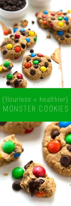 monster cookies - no flour or butter!