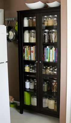 This is a super cute make-shift pantry!