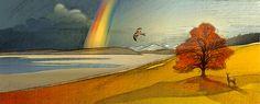 Illustriertes Keyvisual fürs Corporate Design. Version Herbst. Corporate Design, Angst, Grafik Design, Illustration, Painting, Pictures, Painting Art, Paintings, Illustrations
