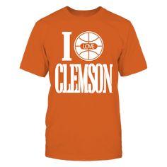 I Love Clemson Tigers Basketball T-Shirt, Clemson Official Apparel - Wear Your Pride!  The Clemson Tigers Collection, OFFICIAL MERCHANDISE  Available Products:          Gildan Unisex T-Shirt - $25.95 District Men's Premium T-Shirt - $27.95 Gildan Women's T-Shirt - $27.95 District Women's Premium T-Shirt - $29.95 Gildan Long-Sleeve T-Shirt - $33.95 Gildan Fleece Crew - $39.95 Gildan Unisex Pullover Hoodie - $49.95       . Buy now => http://activeation.com/5q7E