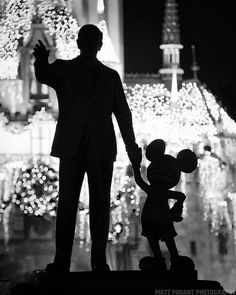 Walt and Mickey statue, Walt Disney World   Matt Pasant Photography