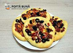 Minipizza sau pizette cu salam, ardei si masline, reteta simpla Waffles, Pancakes, Pepperoni, Vegetable Pizza, Vegetables, Breakfast, Paste, Youtube, Blog