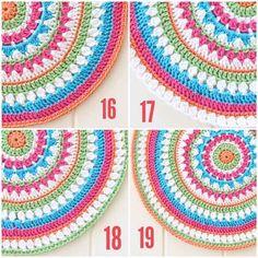 teste padrão da mandala crochet livre