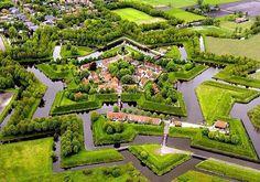 Castles Rock - 22 April 2018 Bourtange Vlagtwedde Westerwolde province of Groningen Netherlands