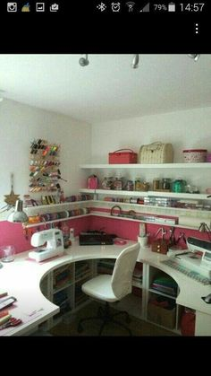 Sewing room set up with IKEA- Nähzimmer einrichten mit IKEA Sewing room set up with IKEA - Ikea Sewing Rooms, Sewing Room Storage, Sewing Spaces, Sewing Room Organization, My Sewing Room, Craft Room Storage, Organization Ideas, Sewing Desk, Storage Ideas