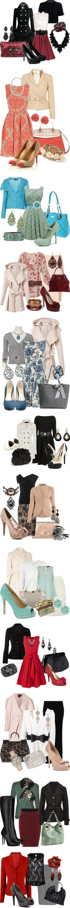 Outfits: Semi-Formal, Business, Dressy Casual...all of these are so classy and feminine!