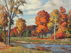 Aldro Thompson Hibbard (American, 1886-1972)      Vermont Landscape, Autumn
