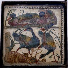 Rom, Santa Maria in Trastevere, römisches Mosaik aus augusteischer Zeit (Roman mosaic of the Augustan period)