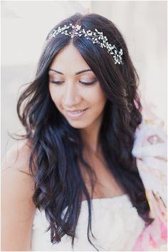 Amanda Judge boho bridal headpiece  | Image by Mademoiselle Fiona and read more http://www.frenchweddingstyle.com/wedding-banks-river-seine-paris/
