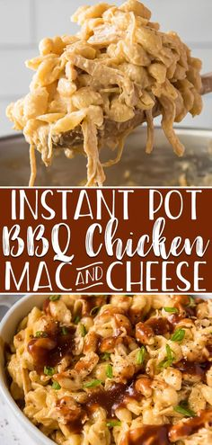 Jul 2019 - Try something different at your next cookout with BBQ Chicken Mac and Cheese made in your Instant Pot! This one pot side dish combines everything you love about creamy, cheesy pasta and leftover grilled chicken in a uniquely yummy recipe! Bbq Chicken Side Dishes, Leftover Bbq Chicken Recipes, Pasta Side Dishes, Leftover Rotisserie Chicken, Side Dishes For Bbq, Side Dish Recipes, Sides For Bbq Chicken, Chicken Mac And Cheese Recipe, Instant Pot Mac And Cheese Recipe