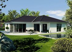 Simple Bungalow House With Terrace