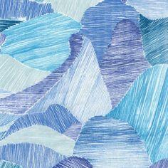Nani Iro 2015 Mountain Views Blue Double Gauze