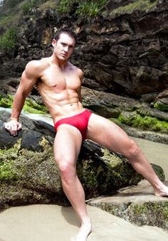 Red speedos...