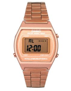 3c60faea1ca Casio Casio Rose Gold B640WC5AEF Digital Bracelet Watch at ASOS Color  Dorado