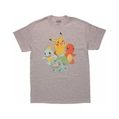 Pokemon Classic Starter Group T-Shirt ($20) ❤ liked on Polyvore featuring tops and t-shirts