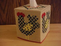 Ruler of the Roost Tissue Box Cover Yellow by ShanaysCreation, $20.00