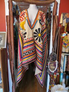 Outrageous Vintage Banjara/Indian Embroidered Poncho/Wall Hanging
