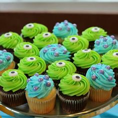 Monsters Inc. cupcakes!