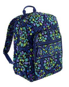 Vera Bradley, indigo pop campus backpack, $109