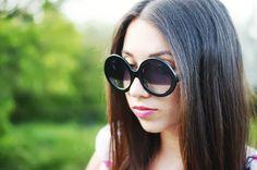Domischh's blog, Designer Inspired Round Circle Half Tinted Lens Sunglasses 8511