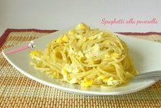 Spaghetti alla poverella un primo piatto o anche un piatto unico con le uova, facile e veloce da preparare con pochissimi ingredienti. Blog giallo zafferano